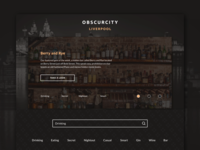 Obscurcity Landing Page UX - Searching local hidden gems