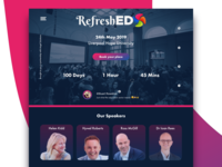 Refreshed Conference Landing Page Concept