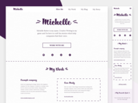 Creative Writing service and portfolio site UI