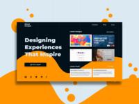 Kieron Designs web page design