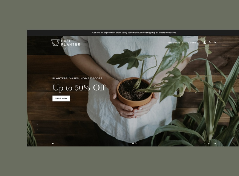 Lush Planter | Online Shopping onlineshopping product design ecommerce website webdesign website planter plant overview app design ui uiux ecommerce design ecommerce