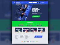 Landing page for a sports betting platform