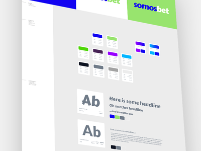 Somosbet Style Guide framework style colours grid typography logo manual brand styleguide