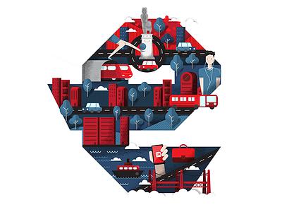 eGamingservices - New office invitation e letter iconography texture illustrator city lisbon icon badge vector illustration