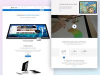 Microsot Surface Studio Landing Page
