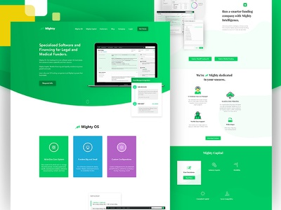 Mighty presentation website web ux ui trend new mighty landing illustration home gradient design
