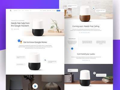 Google home presentation product page landing home google gmail minimal clean