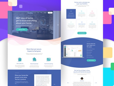 Homey landing product page minimal landing home google gmail clean