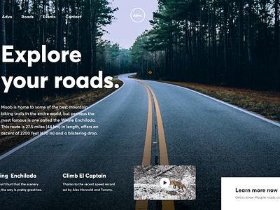 Advo Exploration gmail trending minimalism landing header typography simple minimal clean
