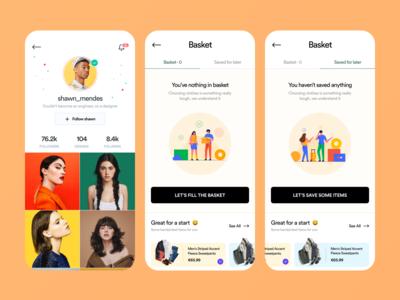E Commerce Next Screens