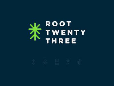 Root23 Branding dna 23 root brand identity brand logo design