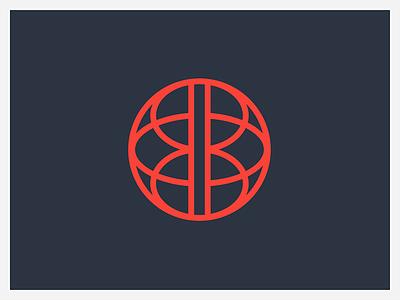 World Brain brain vector distribution globe world concept color brand identity logo design