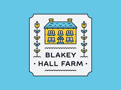 Blakey Hall Farm icon building flower hotel farm illustration logo