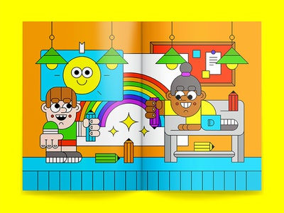 Creative Kids paper crayon creative fun colouring children kids character illustration