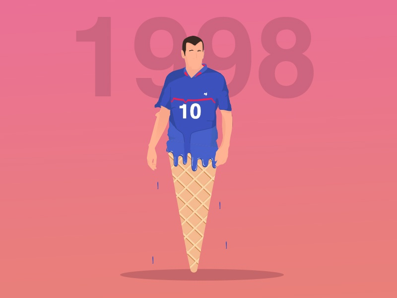 Zidane pop players zidane pink cream ice sugar sport generation football
