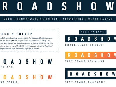 Roadshow Campaign Style Guide campaign style guide