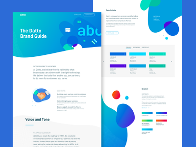 Datto Brand Site gradient illustration color typography type identity brand