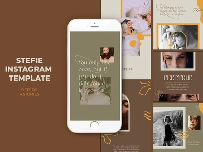 Stefie Instagram Templates template sun summer social media social psd promotional promotion promo photoshop network mockup layout instagram ig beach banners azruca advert ad