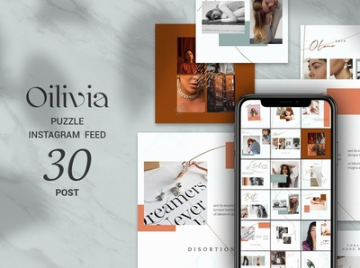 Oilivia Puzzle Instagram Feed social shop feed photoshop feed photoshop modern lifestyle stories instagram template instagram feed instagram banner instagram food stories feed template feed fashion ecommerce creative clean banner azruca