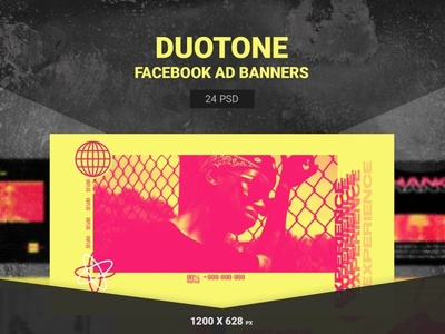 Duotone Facebook Ads Templates multi purpose metro design marketing google gif banner gif flat design flat fashion discount deal coupon business banners banner set banner pack azruca animated banner animated adroll