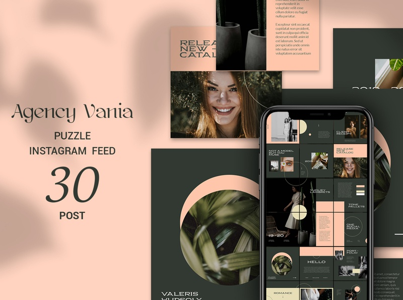 Agency Vania Puzzle Instagram Feed instagram happy day gift gif flat design flat fashion facebook dress discount design deal creative instagram cover coupon clubs party club cloths clothing clothes
