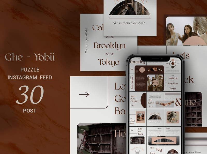 Ghe-Yobii Puzzle Instagram Feed social media social shop feed photoshop feed photoshop modern lifestyle stories instagram template instagram feed instagram banner instagram food stories feed template feed fashion ecommerce creative