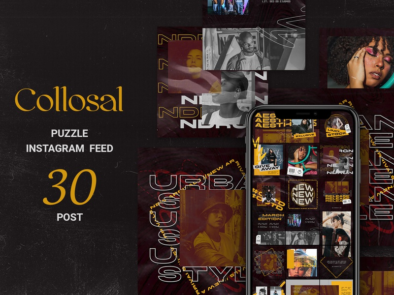 Collosal Puzzle Instagram Feed social media sales banners promotions online shopping online shop october marketing instagram ads instagram fashion banner fashion ads fashion banner promotion autumn season autumn advertising ads
