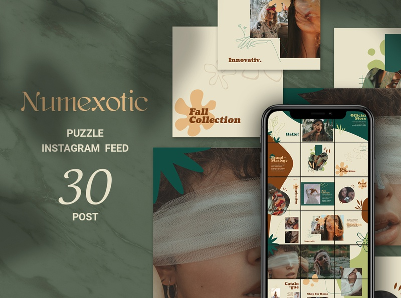 Numexotic Puzzle Instagram Feed social media sales banners promotions online shopping online shop october marketing instagram ads instagram fashion banner fashion ads fashion banner promotion azruca autumn season autumn advertising ads