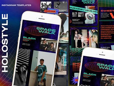 Spacestyle Instagram Templates sales sale promotion photography offer modern mobile minimal media instagram hipster geometric fashion facebook discount design branding brand banner azruca