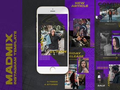 Madmix Instagram Templates marketing graphic design design clothing business fashion instagram