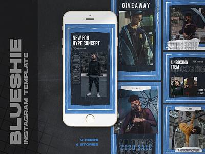 Blueshie Instagram Templates design clothing business marketing fashion instagram
