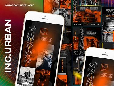 Inc.Urban Instagram Templates design clothing marketing fashion instagram branding graphic design