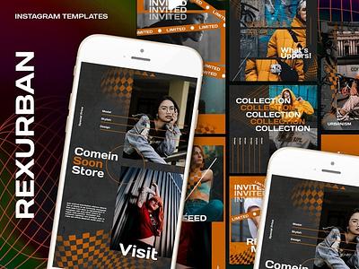 Rexurban Instagram Templates branding graphic design design clothing business marketing fashion instagram
