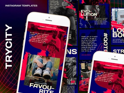 Trycity Instagram Template design clothing business marketing fashion instagram