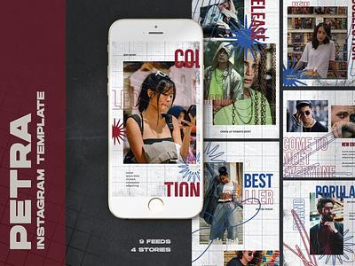 Petra Instagram Templates branding graphic design design clothing business marketing fashion instagram