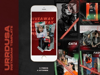 Urrdusa Instagram Templates branding graphic design design business clothing marketing fashion instagram