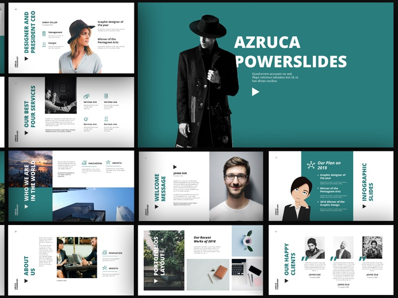 azruca powerpoint templates by comodensis dribbble