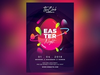 Easter Egg Party Flyer Templates