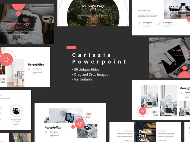 carissia powerpoint templates by comodensis dribbble dribbble