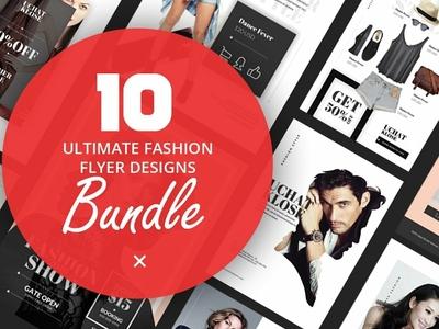 10 Fashion Flyer Designs Bundle V.1