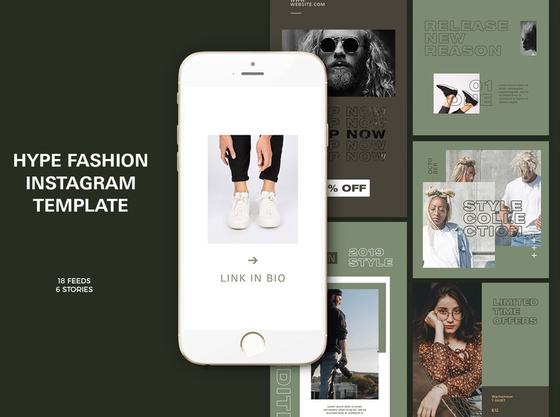 Hype Fashion Instagram Templates