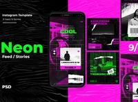 Neon Instagram Templates