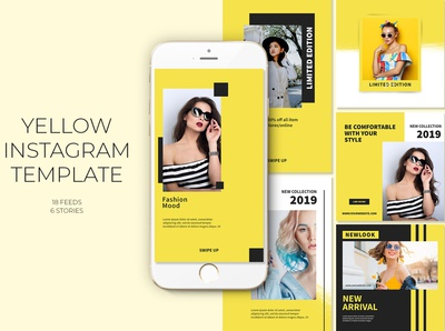Yellow Instagram Templates