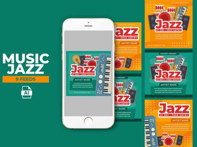 Music Jazz Instagram Templates