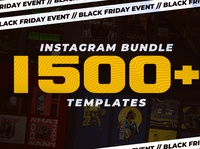 INSTAGRAM BUNDLE 1500+ Templates