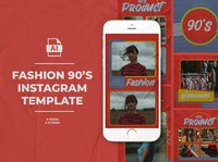 Fashion 90's Instagram Templates