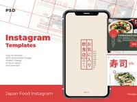 Japan Food Instagram Templates