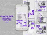 Negative Hype Instagram Templates