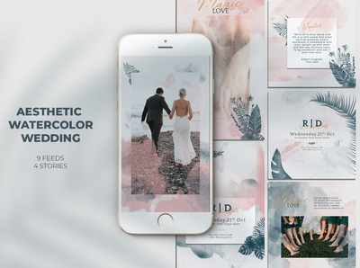 Aesthetic Watercolor Wedding