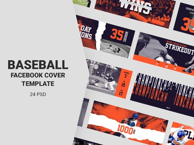 Baseball Facebook Cover Templates